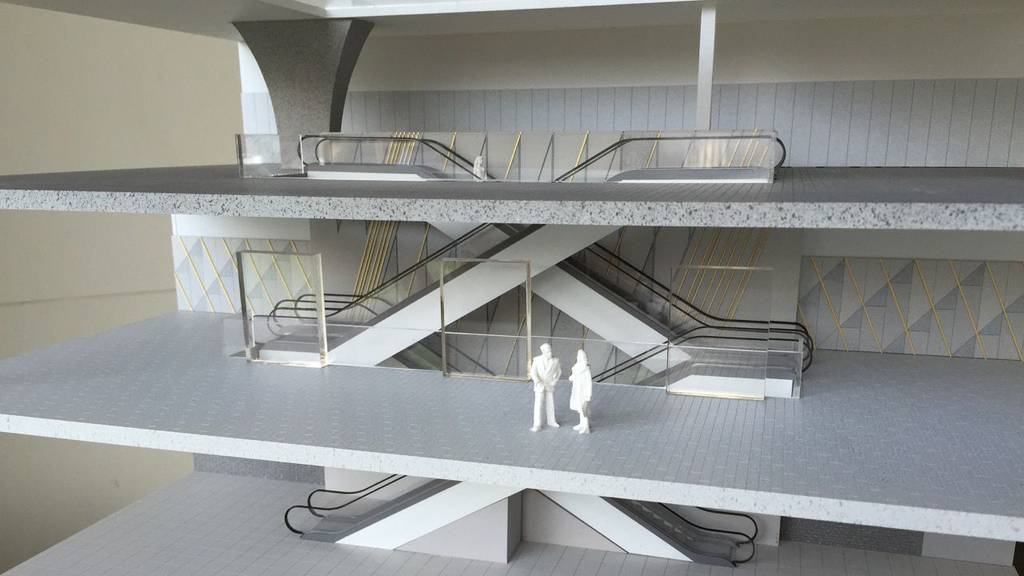 M&S Brussels Store Atrium Study Model