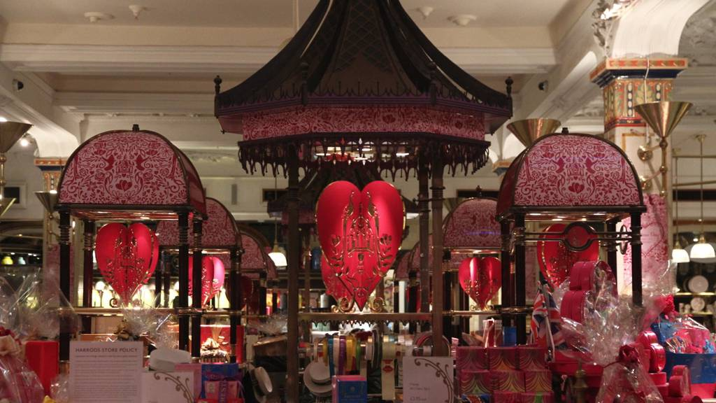 Harrods Valentine's Decorations 2014 5