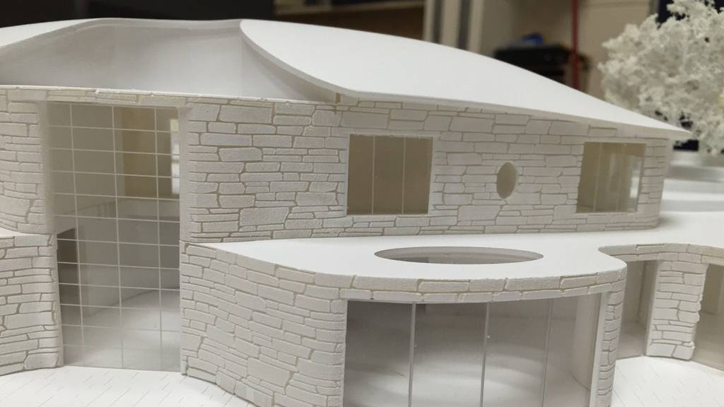 3D Printed Architectural Residence 1:150 4